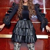 Lovely Chic Flounce Design Black Shirts