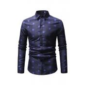 Lovely Trendy Printed Blue Blending Shirts