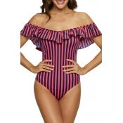 Lovely Trendy Striped Multicolor One-piece Swimwea