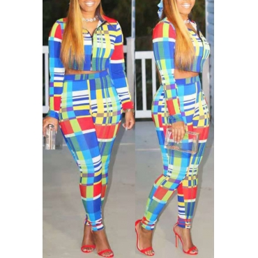 Lovely Casual Printed Multicolor Two-piece Pants Set