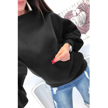 Lovely Casual Hollowed-out Black Hoodies