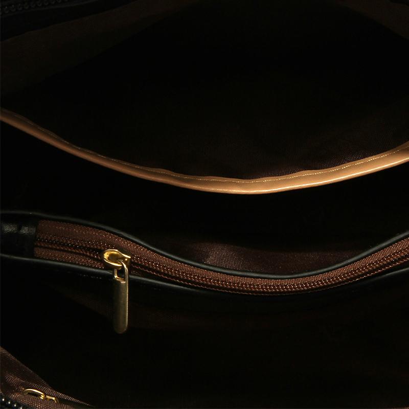 Schöne Modische Patchwork-Tasche Aus Schwarzem Crossbody
