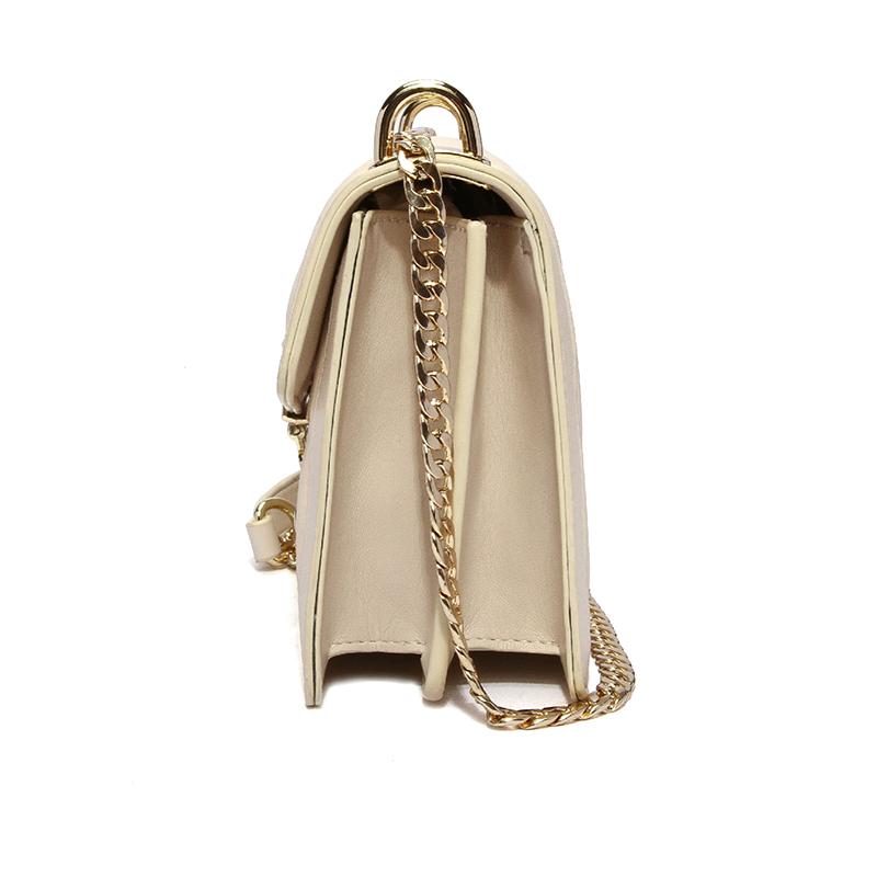 Lovely Elegant Metal Chain Strap White Crossbody Bag