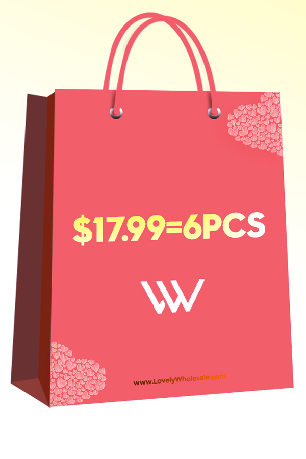 Lovely Lovely 8th Anniversary Sale Bag: 6 items for $17.99,please choose your size