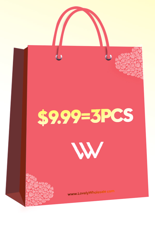 Lovely Valentine's Day  Sale Lucky Bag: 3 items for $9.99,please choose your size