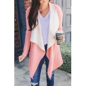 Lovely Casual Long Sleeves Light Pink Sweater Card