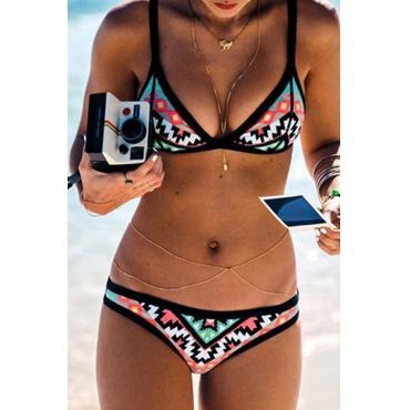 Bikinis Multicolores Impresos Casuales Encantadores