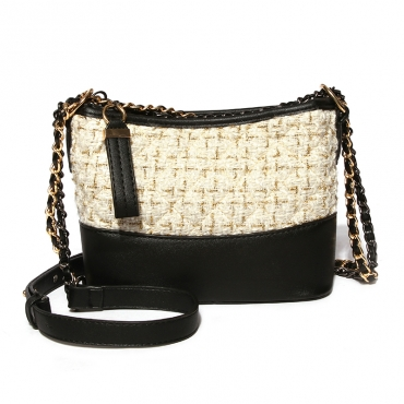 Lovely Trendy  Patchwork White Crossbody Bag