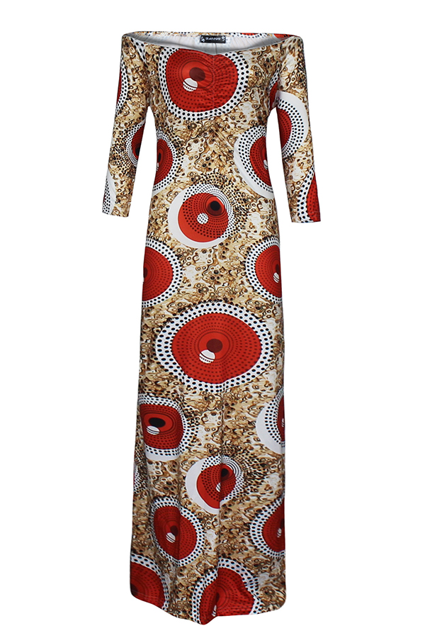 Lovely Trendy Dew Shoulder  Red Floor length Dress