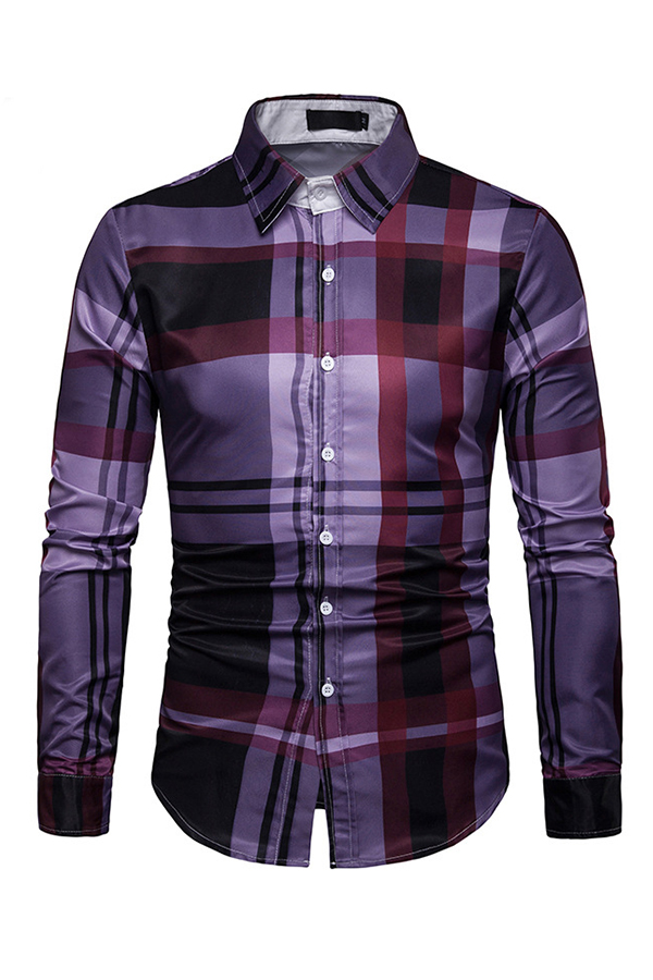 Lovely Casual Geometric Printed Red Shirt