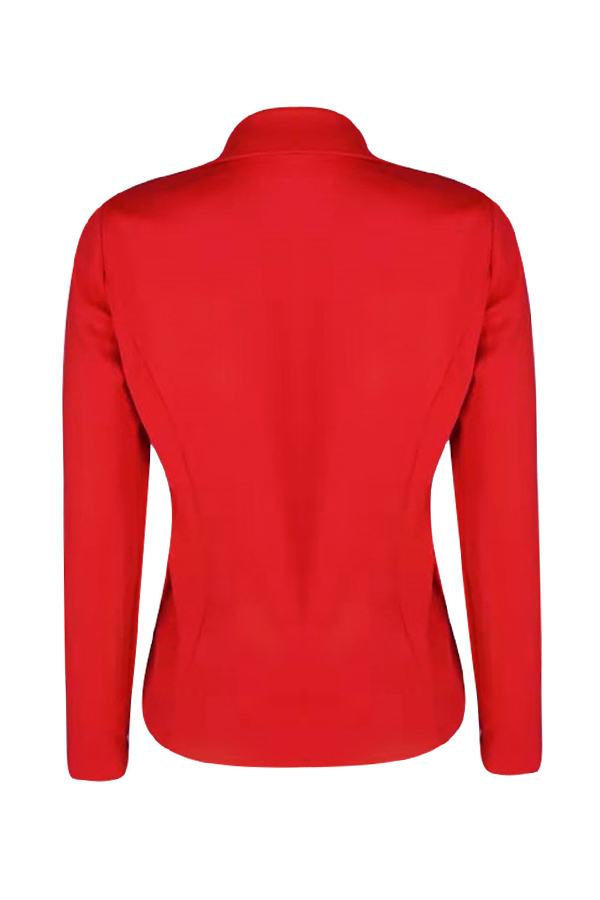 Lovely Casual Buttons Decorative Red Suits