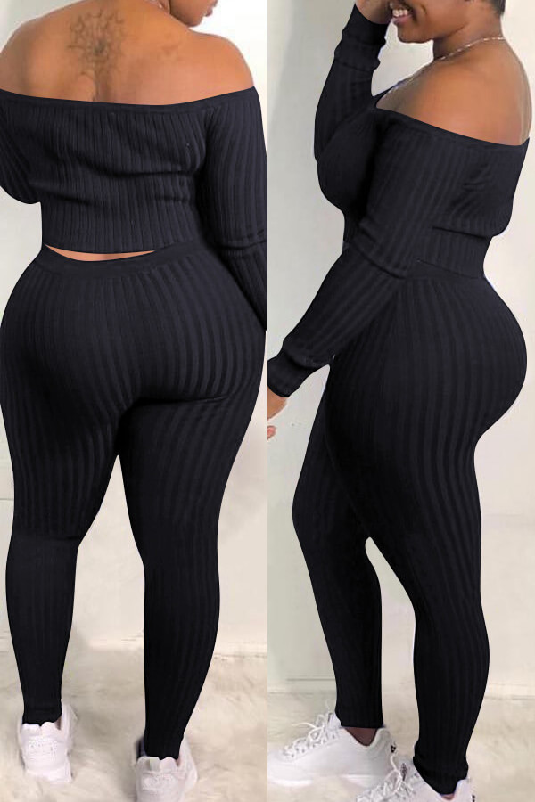 LW Striped Printed Pants Set