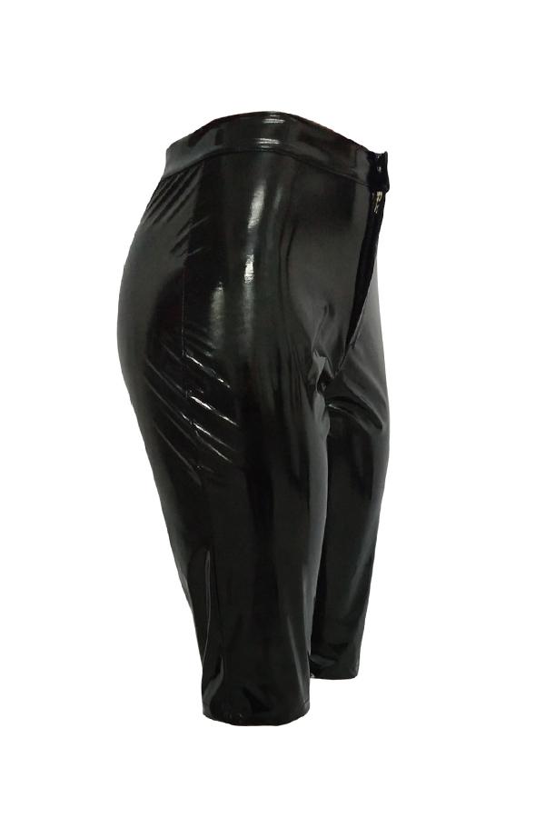 Lovely Trendy Skinny Black PU Shorts