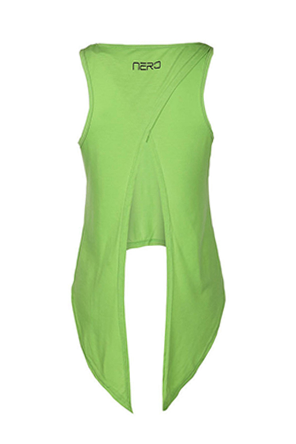 Lovely Casual Knot Design Green Knitting Tank Top