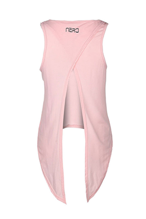 Lovely Casual Knot Design Light Pink Knitting Tank Top