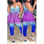 Lovely Casual  Loose Purple One-piece Jumpsuit