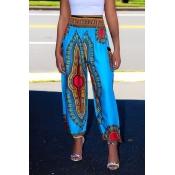 Lovely Ethnic Printed Harlan Light Blue Pants