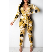 Lovely Women s Printed Yellow Jumpsuit