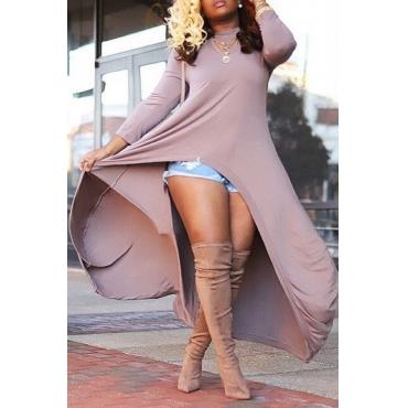 Lovely Trendy Asymmetrical Khaki Blouses
