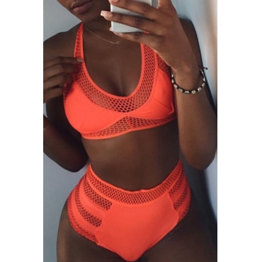 Lovely Sexy Hollow-out  Jacinth Bikinis