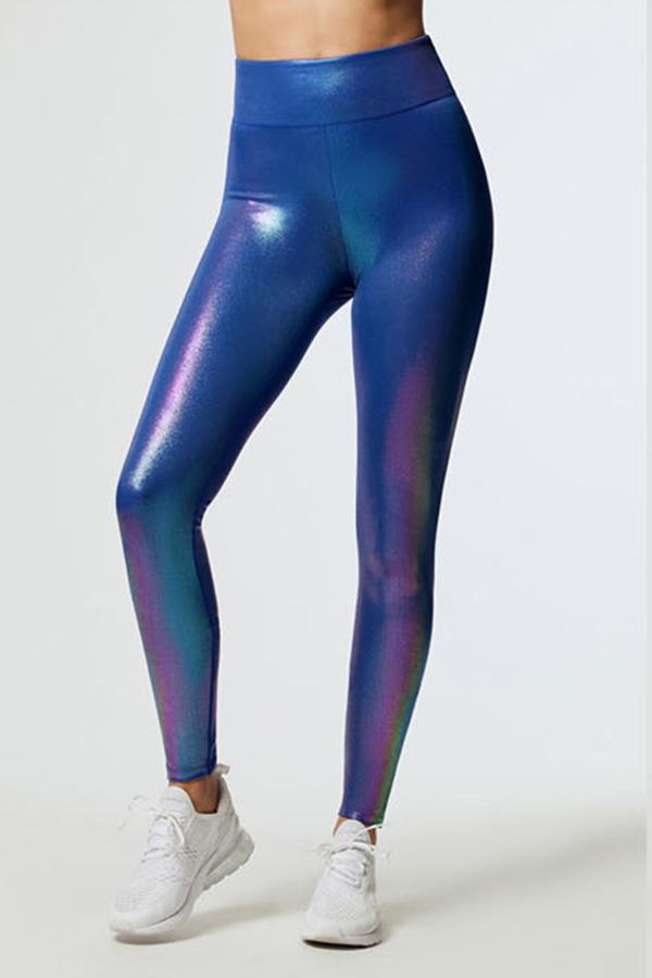 Lovely High Elastic Blue Pants