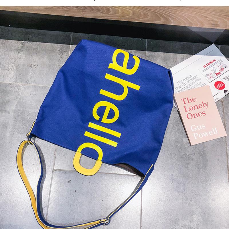 Lovely Fashion Letter Printed Blue Crossbody Bag