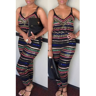 9e3177e722b 38 Lovely Casual Striped Printed One-piece Jumpsuit(With Elastic)