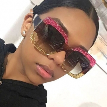 Lovely Fashion Patchwork Light Pink PC Sunglasses