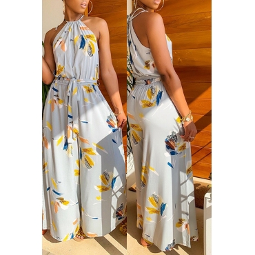 b53118050e53 49 Lovely Bohemian Printed Grey One-piece Jumpsuit