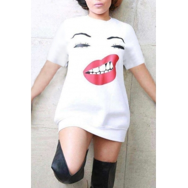 Lovely Casual Character White Mini Dress