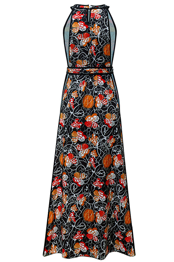 Lovely Sexy Floral Printed Black Dress