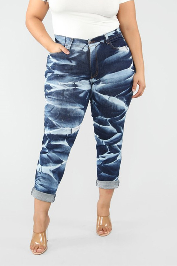 Lovely Casual Printed Multicolor Jeans
