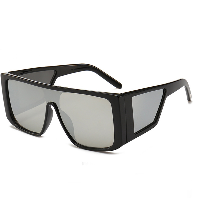 Lovely Stylish Big Frame Silver PC Sunglasses