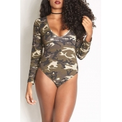 Lovely Camouflage Printed One-piece Swimwear