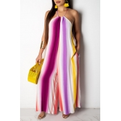 Lovely Chic Striped Purple One-piece Jumpsuit
