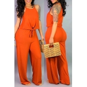 Lovely Casual Sleeveless Jacinth Two-piece Pants S