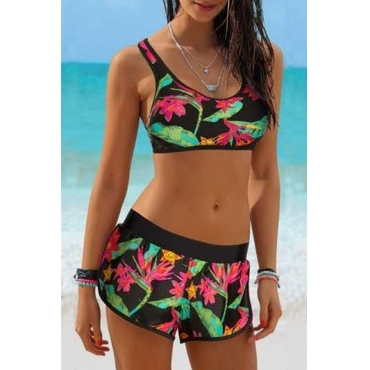 Lovely Printed Multicolor Two-piece Swimwear