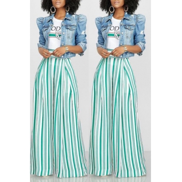 Lovely Stylish Striped Printed White Pants