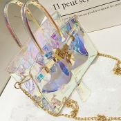 Lovely Fashion See-through Baby Blue PU Crossbody