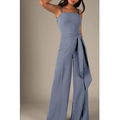 Lovely Sexy Hollow-out Grey One-piece Jumpsuit