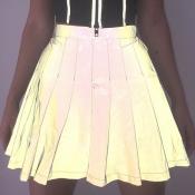 Lovely Casual Drape Design Grey Mini A Line Skirt