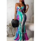 Lovely Sexy Off The Shoulder Hollow-out Multicolor