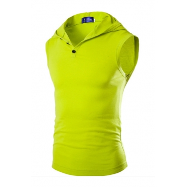 Lovely Casual Hooded Collar Green Cotton Vest