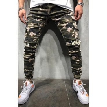 Lovely Casual Camouflage Printed Cotton Pants