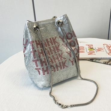 Lovely Casual Rhinestone Decoration Silver Crossbody Bag