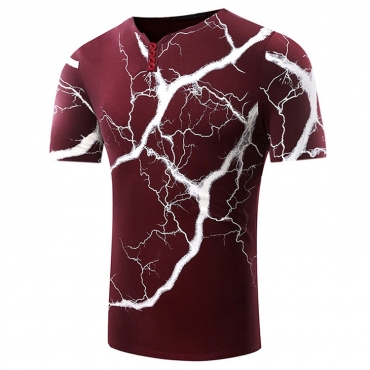 Lovely Leisure O Neck Printed Red T-shirt