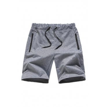 Lovely Casual Patchwork Grey Shorts
