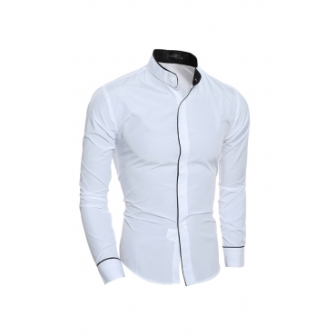 Lovely Stylish Patchwork White Shirt