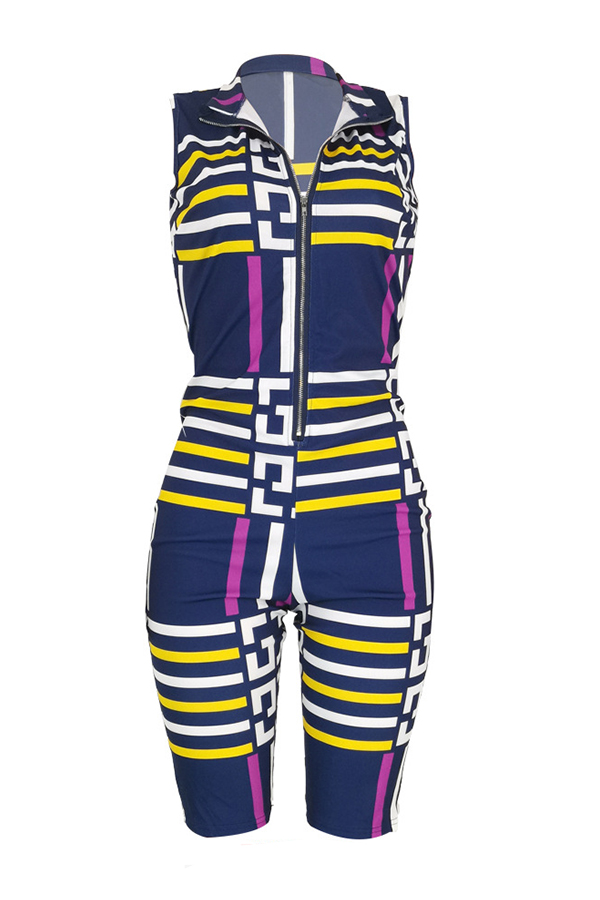 Lovely Trendy Printed Purple One-Piece Romper