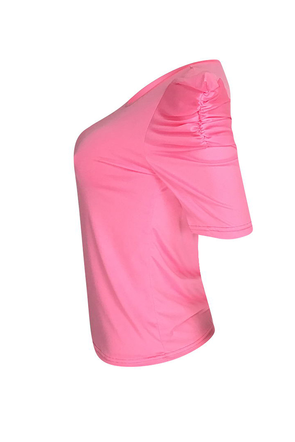 Lovely Casual O Neck Pink T-shirt